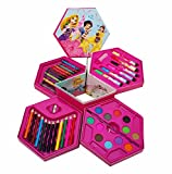#5: Akshat Online Traders 46 Piece Color Box Includes Sketch Pens, Crayons, Pencils & Water Colors (Color May Vary)