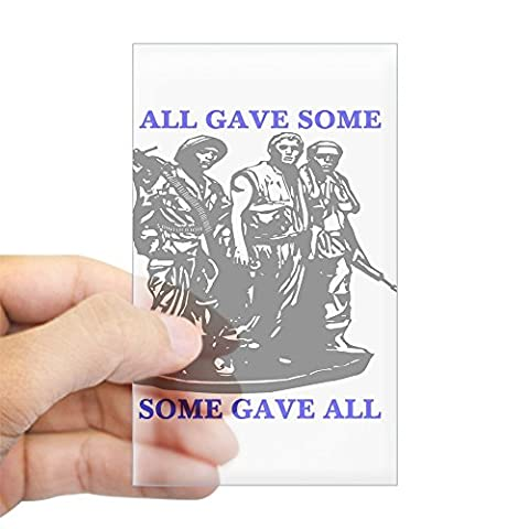 CafePress - Vietnam Memorial All Gave Som Sticker (Rectangular - Rectangle Bumper Sticker Car Decal