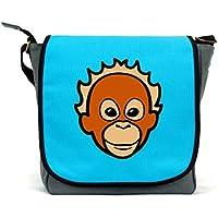 Orangutan Messenger Bag/Satchel | Pink, Blue or Grey | Waterproof Canvas | By Paw Prints