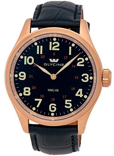 Glycine-KMU-48-Kriegs-Marine-Uhren-Rose-Gold-Plated-Steel-Mens-Watch-390629AT-LBK7D