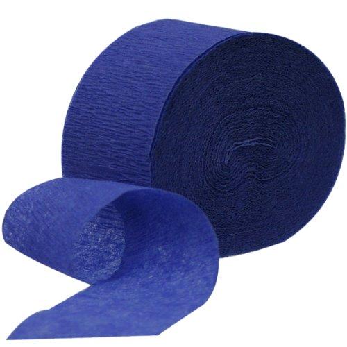 Krepppapier-Bänder, 4,4cm x 24,7m, Saphir-Blau