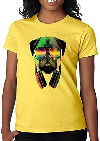 Pug Funny Women' s Shirt Custom Made T-shirt (M)