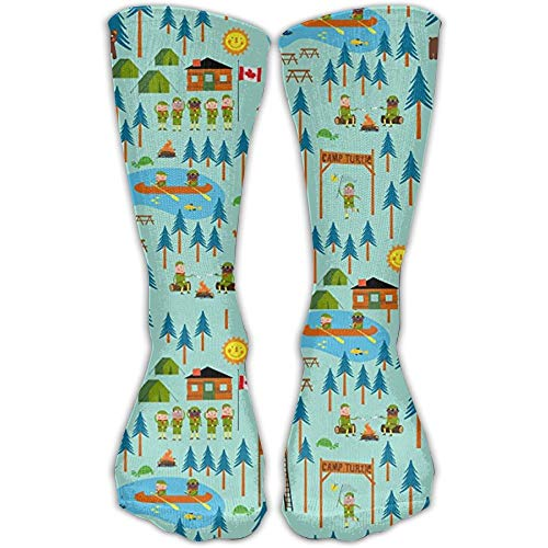 Mabell Boy Scouts Camp Turtle Athletic Tube Stockings Women's Men's Classics Socks Sport Long Sock One Size Scout-ankle Boot
