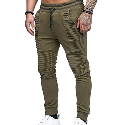 c29e9fbd1f0ba3 Celucke Herren Jogginghose Sweatpants Trainingshose Slim Fit