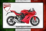 ComCard Ducati SuperSport S 2017 Italien motorrad, motorcycle, motorbike schild aus blech, metal sign, tin