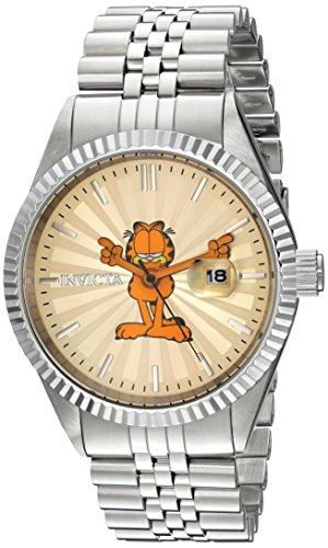 Invicta 24872 Character - Garfield Herren Uhr Edelstahl Quarz Champagnerfarbe Zifferblat