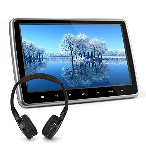 """Auto Monitor 10,1"""" Zoll DVD Player Kopfstütze Monitor mit Fernbedienung Kopfhörer Kfz System unterstützt Spiel HDMI USB SD FM IR TV für Kinder TFT LCD Bildschirm NAVISKAUTO 1001S"""