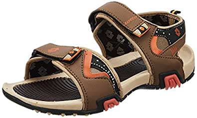 Lotto Men's Brown and Orange Sandals - 10 UK/India (44 EU)(GT7043)