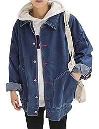 Yonglan Hombre Chaqueta De Mezclilla Casual Slim Manga Larga Jean Jacket  Trucker Chaqueta Vaquera Aspicture L 460b1e74cb2