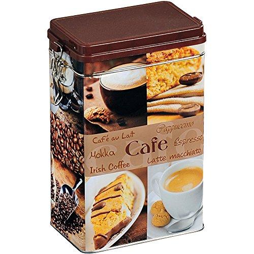 Kesper Aufbewahrungsdose, Metalldose, Küchendose, für Kaffee, eckig, aus Metall, Maße: 118...