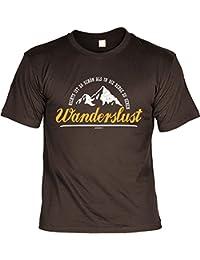 Klettern Alpinisten Wandern Hobby Freizeit Fun Shirt WANDERSLUST Bekleidung Wanderer Bergsteiger Print lustig bedruckt Berg Sport T-Shirt Ausrüstung : )