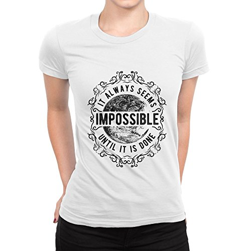 It Always Seems Impossible Until It is Done Damen T-Shirt M (Beatles-tie-dye-t-shirt)