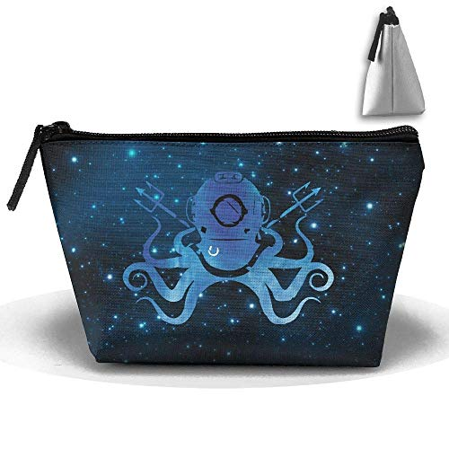 Octopus Diving Helm Scuba Dive Pen Briefpapier Federmäppchen Kosmetik Make-up Tasche