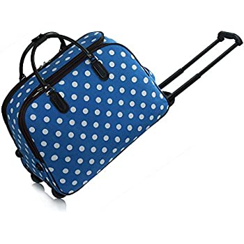Ladies Travel Holdall Bags Hand Luggage Womens Polkadots Print ...