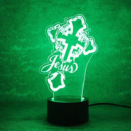 Gott Kreuz Jesus Lampe 3D USB Led Visuelle Nachtlicht Kreative Leuchte Geschenk Nachttischlampe Nachtlicht Mode Tischlampe -