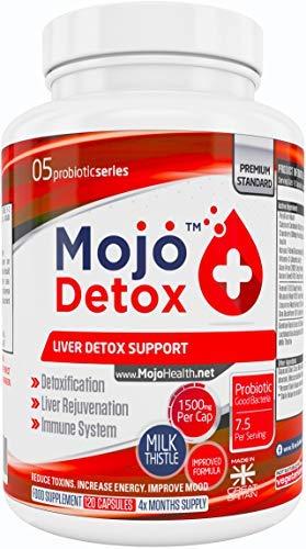MOJO DETOX - Leberunterstützung Probiotika Gallenblase Entgiftung Reinigen Stärken Gallenreinigung Support Leberreinigung Nahrungsergänzungsmittel für Stärkung des Immunsystems