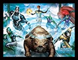 Inhumans Team con Cornice 30 x 40 Ufficiale Stampa - Tuta Dimensione: 36 x 46 cm (14 x 18 Pollici) Stampa Misura: 30 x 40 CM