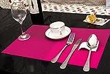Tischset Platzset Clest F&H Kreuzgitter Rose Platzmatte gewebt aus Kunststoff 45x30 cm(2er Set)