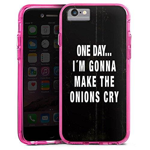Apple iPhone 7 Plus Bumper Hülle Bumper Case Glitzer Hülle Statement Funny Lustig Bumper Case transparent pink