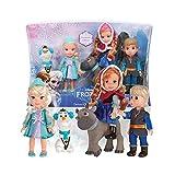Disney Frozen Die Eiskönigin - Pack 5 Mini Puppen 15 cm : Elsa, Anna, Kristoff, Sven et Olaf