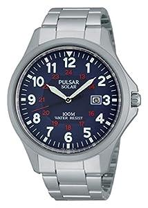 Seiko Sport - Reloj de cuarzo para hombre, correa de acero inoxidable color plateado de Seiko