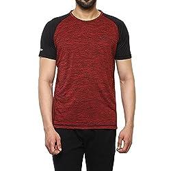 Proline Mens Solid Regular Fit Active Base Layer Shirt (PA025_Rdsd_Medium)