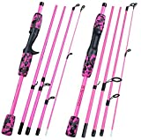 Small Lake Gelb Pink Black5Section Reise Angelrute Ultra Eva Griff Spinning/Casting Angelrute...