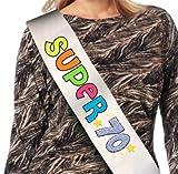 Dream' s Party La Fascia del 70 ENNE - Super 70 - Fascia 70 Anni - Idea Scherzo Gadget per la Festa di Compleanno del Neo settantenne - con Glitter