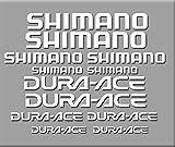 PEGATINAS SHIMANO DURA-ACE R227 STICKERS AUFKLEBER DECALS AUTOCOLLANTS ADESIVI (BLANCO)
