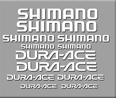 PEGATINAS SHIMANO DURA-ACE R227 STICKERS AUFKLEBER DECALS AUTOCOLLANTS ADESIVI BLANCO