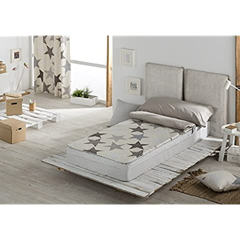 DECOARTESANAL-Saco nórdico ESTRELLA GRIS,cama 90cm