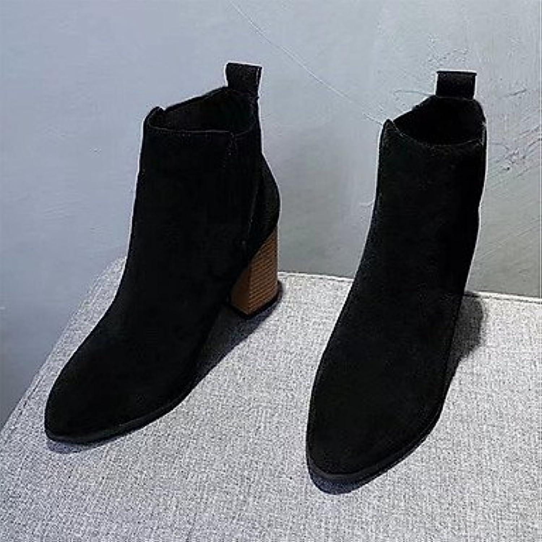 rtry des chaussures en cuir cuir cuir kaka hiver nubuck confort bottes mode bottes chunky talon orteil gore pour décontracté...b078c4w48b parent 124e69