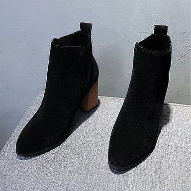 Rtry Femmes Chaussures Nabuck Pu Cuir Hiver Confort Mode Bottes Bottes Chunky Perlé Or Gore Pour Casual Noir Kaki Us6 / Eu36 / Uk4 / Cn36