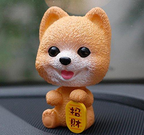 KeavyLee Hundespielzeug in Form Eines Hundes mit Schüttelkopf, Dekoration, (Hiromi mit Schriftzug)