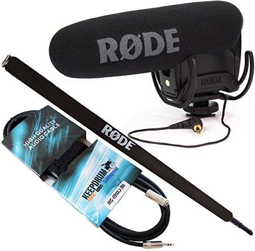Galleria fotografica Rode VideoMic Pro Rycote Microfono Direzionale fotocamera + micro Boom Pole 2m + Keep Drum Mini Jack 3m