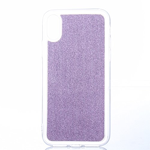 CaseforYou Hülle iphone X Schutz Gehäuse Hülse Ultra Slim Fit Gradient Soft TPU Phone Back Case Cover Protective Shell Schutzhülle für iphone X Handy (Silver) Purple