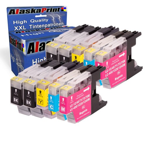 10x Druckerpatronen Kompatibel für Brother MFC-J5910DW MFC-J6510DW MFC-J6710DW MFC-J6910DW MFC-J280W MFC-J425W MFC-J430W MFC-J435W MFC-J625DW MFC-J825DW MFC-J835DW DCP-J525W DCP-J725DW DCP-J925DW Tintenpatrone Brother LC-1220 LC-1220XL LC1220XL LC1220 XL