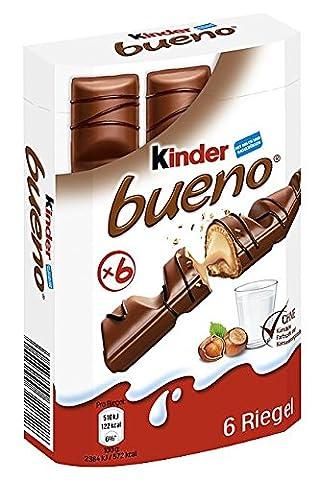 Kinder Bueno 6 Riegel, 9er Pack (9 x 129 g Packung)