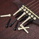 ASIV Acoustic Guitar String Bridge Pin Peg, 12pcs, Cream White and Black
