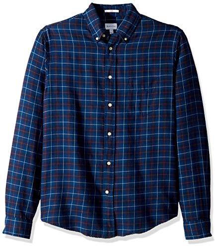 GANT Herren The Twill Check Slim Fit Shirt Hemd, Dunkles Himmelblau, Klein -