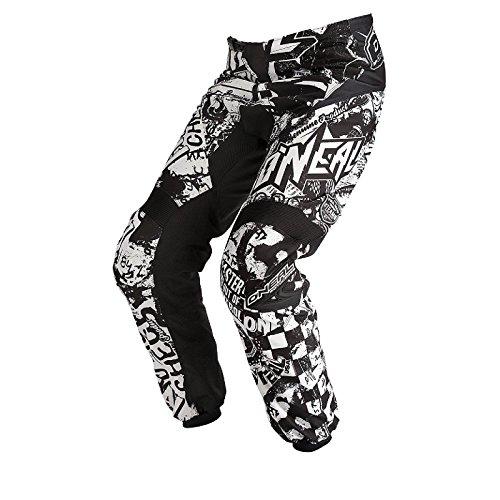 O'Neal Element Kinder MX Hose WILD Schwarz Weiß Moto Cross Motorrad Enduro Downhill, 0124W-8, Größe 28/44