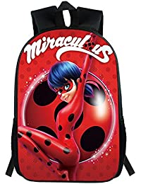 6a6d8a16c8 Haililais Zainetti per Bambini Miraculous Ladybug Zaino Scuola Zaino per  Escursioni Unisex Borsa da Viaggio Zaini