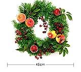Knncch Guirnalda De Navidad Decoración De Navidad Corona De Granada Rama De Fruta PVC Restaurante Restaurante Hotel Centro Comercial Decoración