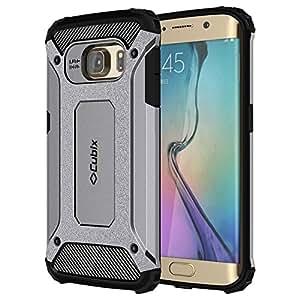 Cubix Galaxy S6 EDGE Case Rugged Armor Case for Samsung Galaxy S6 EDGE (Grey)