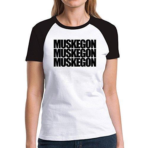 Eddany Muskegon three words Damen Raglan T-Shirt