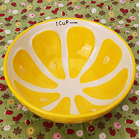 Aliciashouse Handmade Ceramic Bowl Hand Painted Fruit Watermelon Rice Bowl