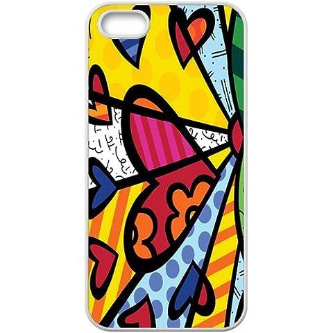 KKDTT Britto Romero Britto–Toalla de playa (diseño de corazón Cell Teléfono Móvil para iPhone
