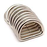 Akord D en métal Bague Boucles pour Sangle, Argent, 25mm