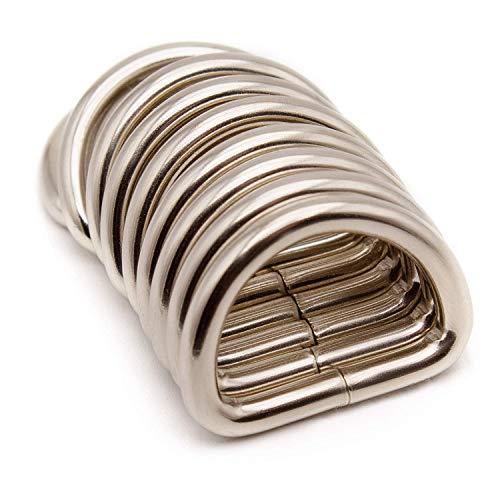 Akord D en métal Bague Boucles pour Sangle, Argent, 25 mm 50e2f0d397b