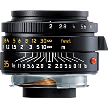 Leica Summicron-M 35mm f/2 Black Lens and Camera Filters (7/5, 0.7m, 3.53cm, 1:17.5, 54°, 38°)